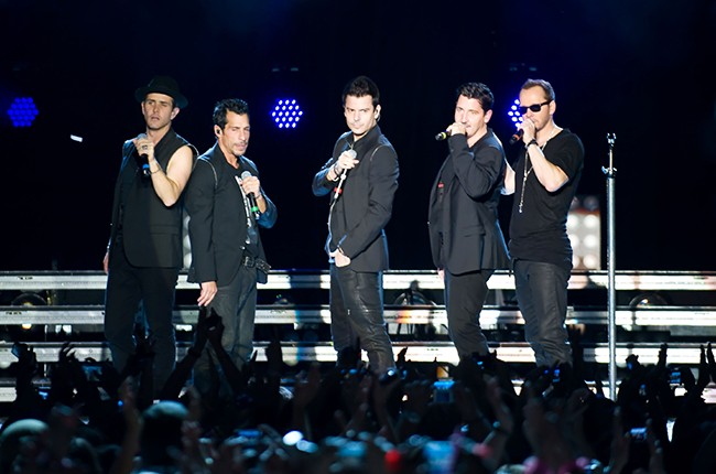 New Kids On The Block perform during their 'Let's get Intimate Tour 2014'