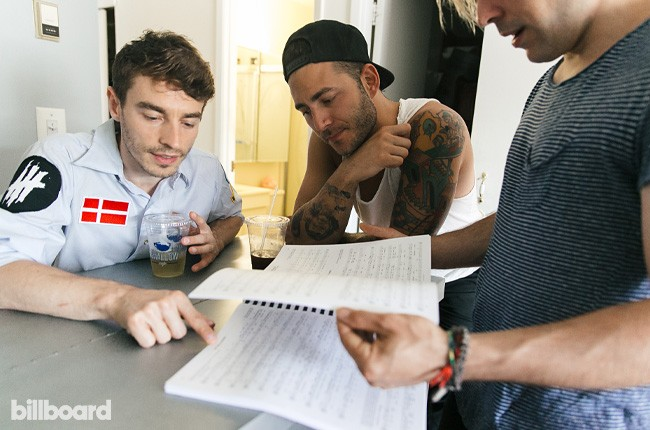 New Politics photographed in Bushwick, Brooklyn on Aug. 18, 2015 while preparing for their performance at Billboard's Hot 100 Festival.