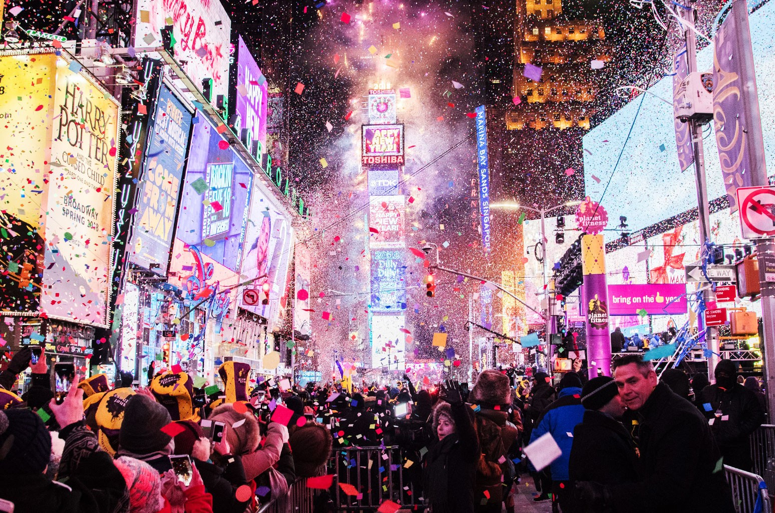 The Times Square New Year's Eve Ball Drop
