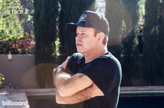Paul Oakenfold photographed at his home in Los Angeles on April 30, 2015.