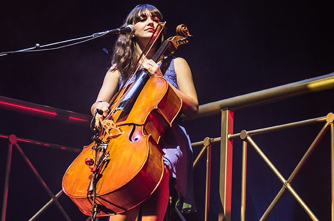 Neyla Pekarek from The Lumineers performs