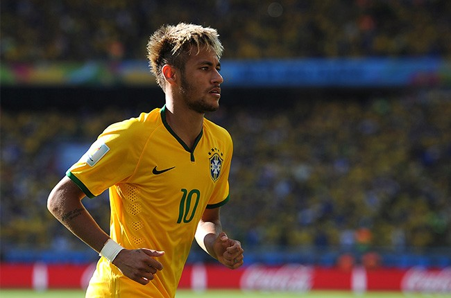 Neymar of Brazil looks on during the 2014 FIFA World Cup
