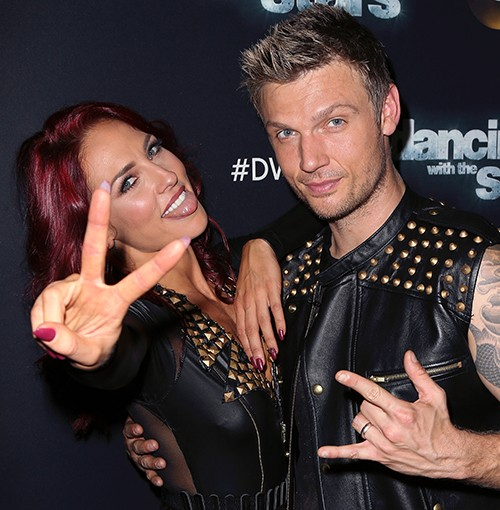 """Nick Carter and Sharna Burgess attend """"Dancing with the Stars"""" Season 21"""