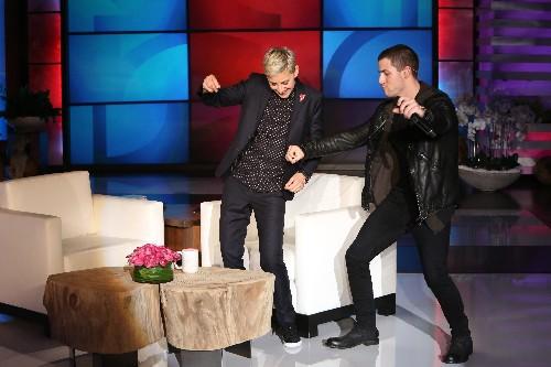 """Nick Jonas and Ellen DeGeneres on """"The Ellen DeGeneres Show"""""""