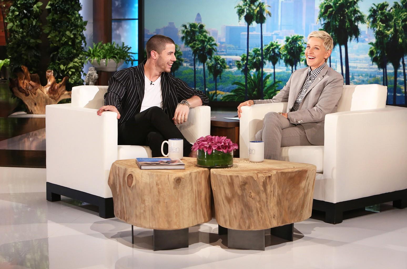 Nick Jonas appears on The Ellen DeGeneres Show