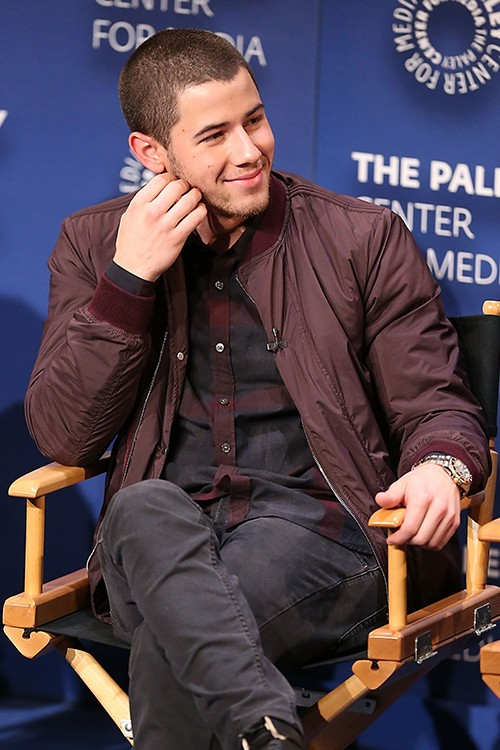 """Nick Jonas speaks on a panel at an evening with """"Kingdom"""" presented by Paley Center For Media"""