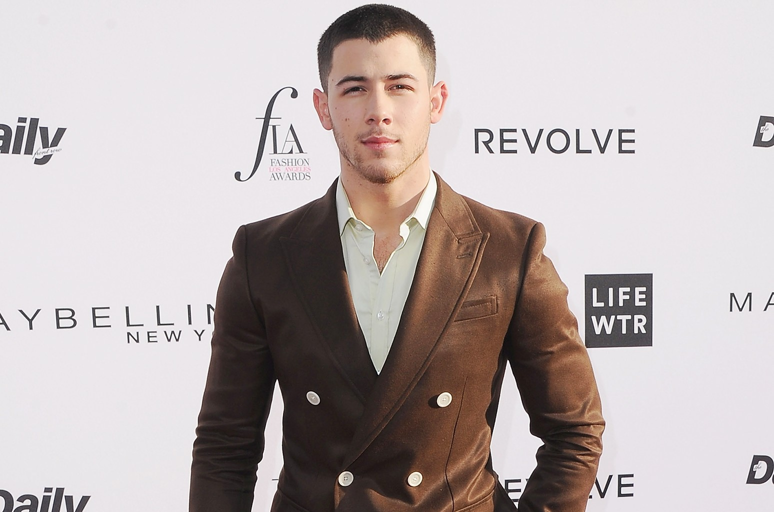 Nick Jonas arrives at the Daily Front Row's 3rd Annual Fashion Los Angeles Awards at the Sunset Tower Hotel on April 2, 2017 in West Hollywood, Calif.