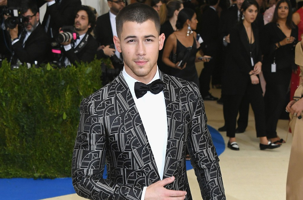"""Nick Jonas attends the """"Rei Kawakubo/Comme des Garcons: Art Of The In-Between"""" Costume Institute Gala at Metropolitan Museum of Art on May 1, 2017 in New York City."""