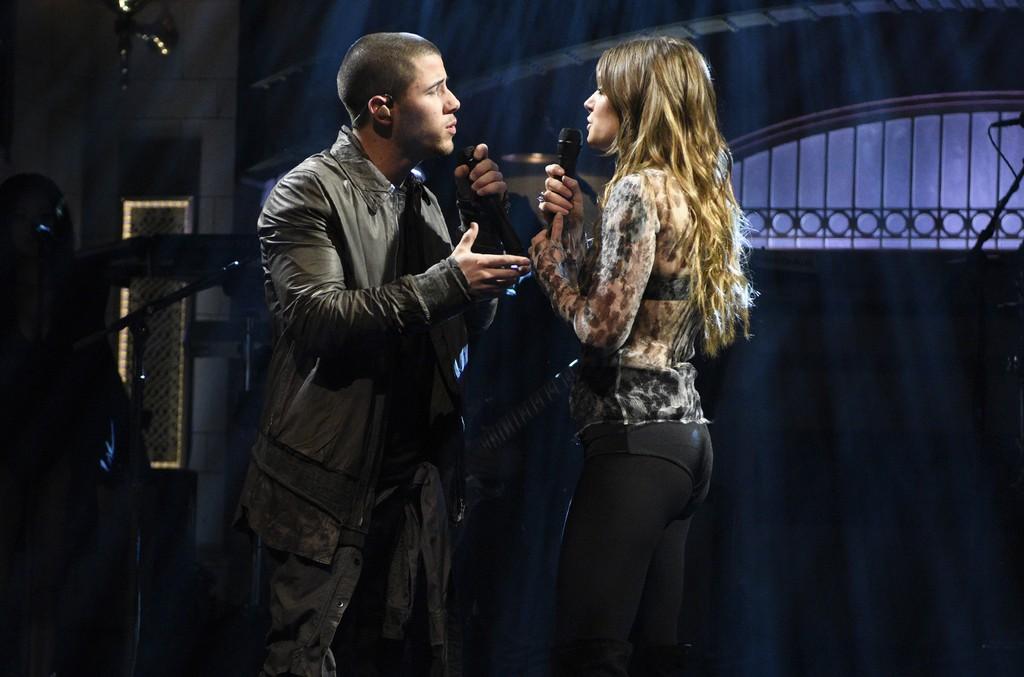 Nick Jonas and Tove Lo perform on Saturday Night Live