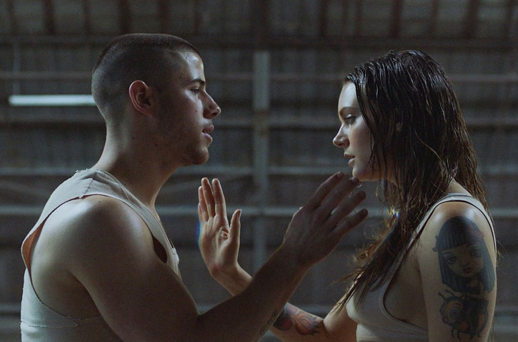 """Nick Jonas and Tove Lo in the video for """"Close."""""""