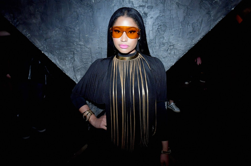 Nicki Minaj attends the Balmain aftershow party as part of Paris Fashion Week Womenswear Fall/Winter 2017/2018 at Manko Paris on March 2, 2017 in Paris.