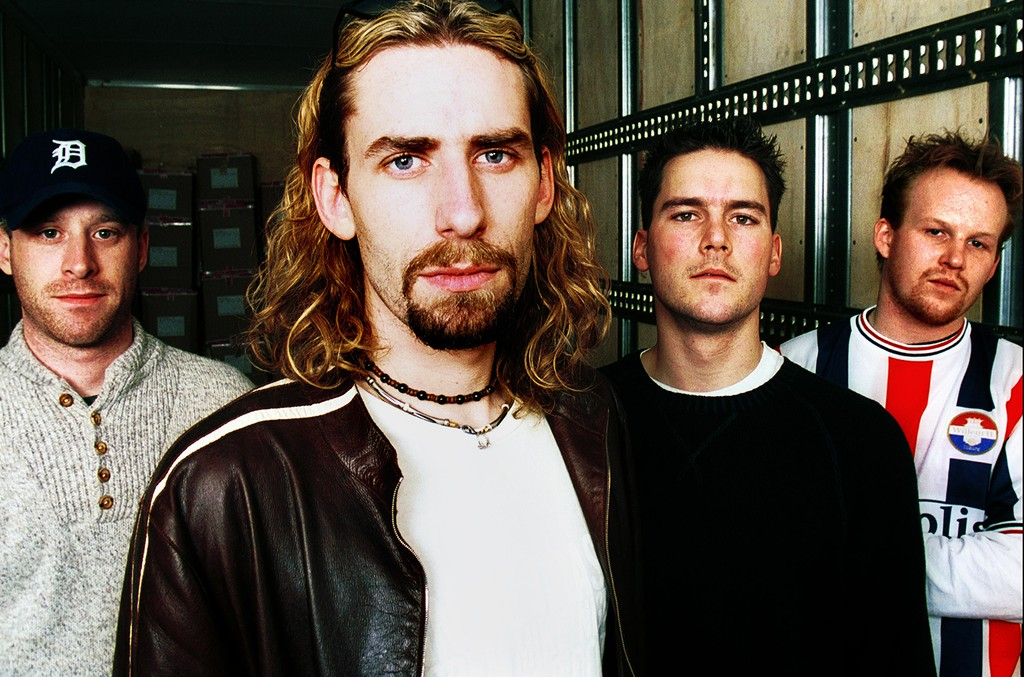 Nickelback photographed in Feb. 16, 2002.