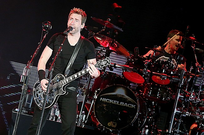 Nickelback perform in concert at the Austin360 Amphitheater 2015