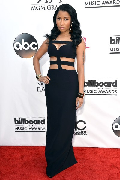 Nicki Minaj on the red carpet at the 2014 Billboard Music Awards