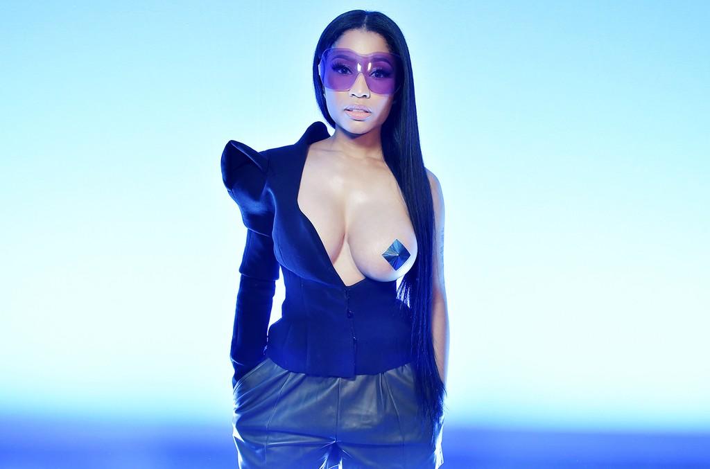 Nicki Minaj attends Haider Ackermann's Autumn/Winter 2017 show during Paris Fashion Week on March 4, 2017.