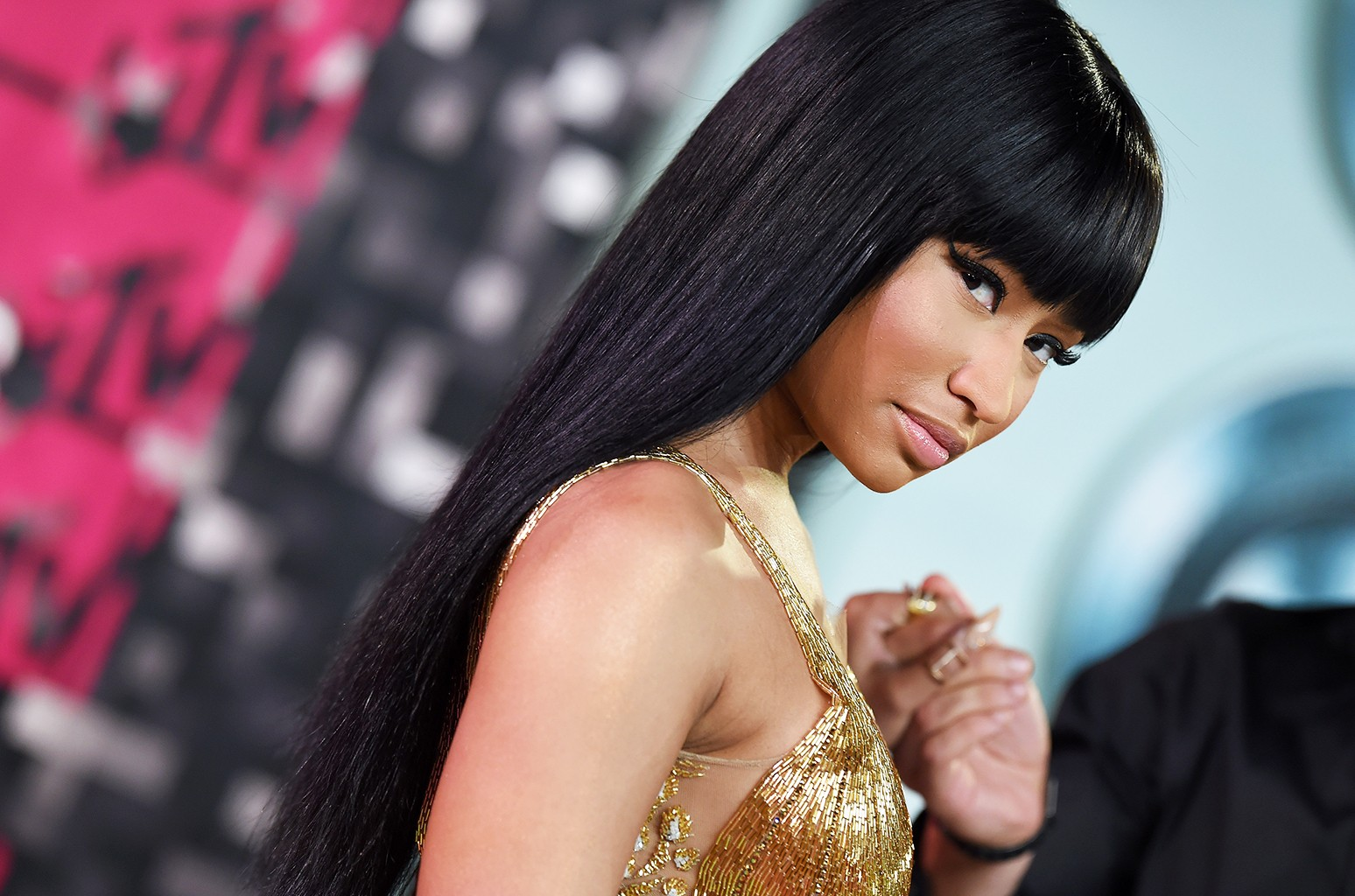 Nicki Minaj arrives at the 2015 MTV Video Music Awards at Microsoft Theater on Aug. 30, 2015 in Los Angeles.