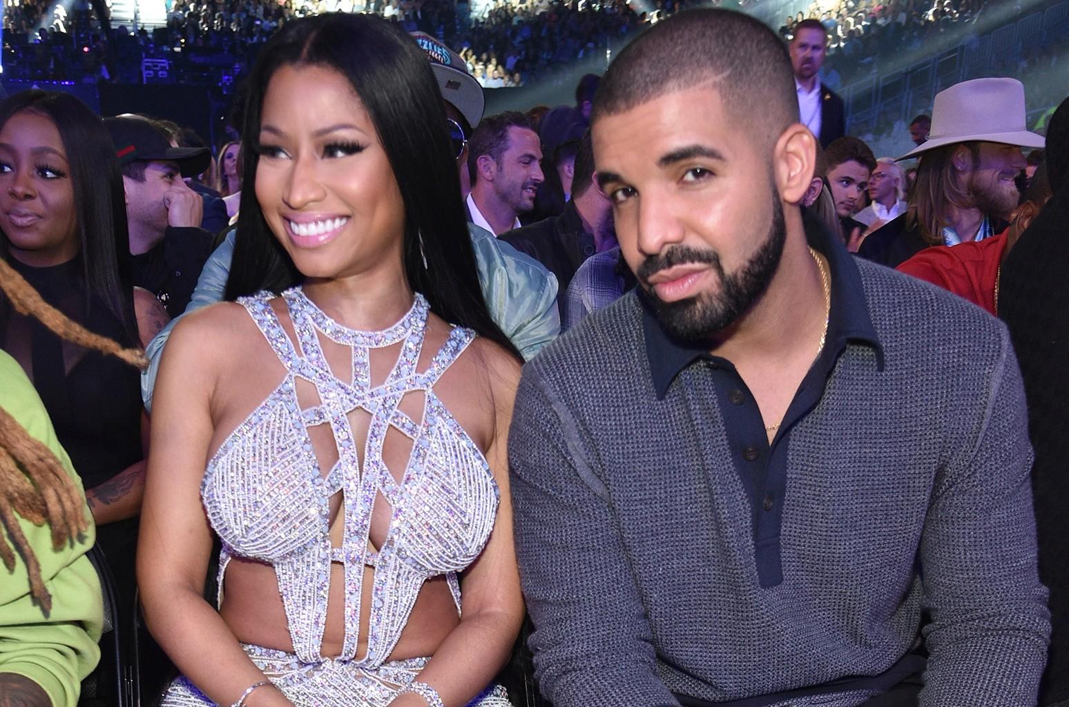 Nicki Minaj and Drake attend the 2017 Billboard Music Awards at T-Mobile Arena on May 21, 2017 in Las Vegas.