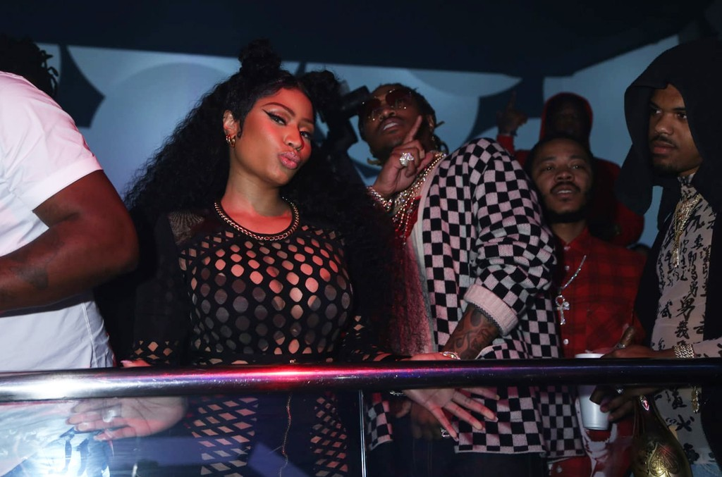 Nicki Minaj and Future are seen at LIV on May 13, 2018 after Rolling Loud music festival.