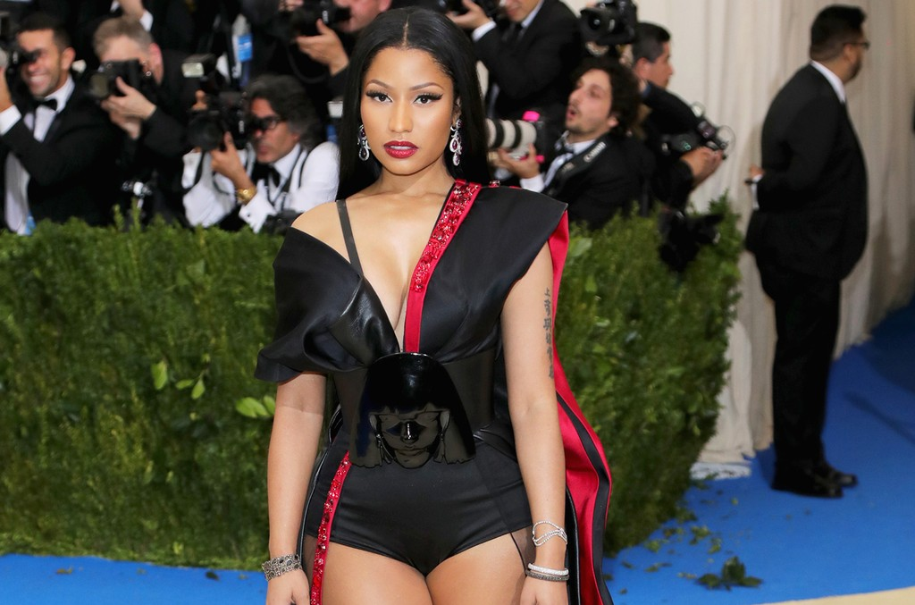 "Nicki Minaj attends the ""Rei Kawakubo/Comme des Garcons: Art Of The In-Between"" Costume Institute Gala at Metropolitan Museum of Art on May 1, 2017 in New York City.  (Photo by Neilson Barnard/Getty Images)"