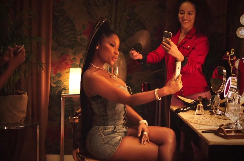 "Nicki Minaj in the video for ""Run Up"" by Major Lazer featuring PARTYNEXTDOOR and Nicki Minaj."