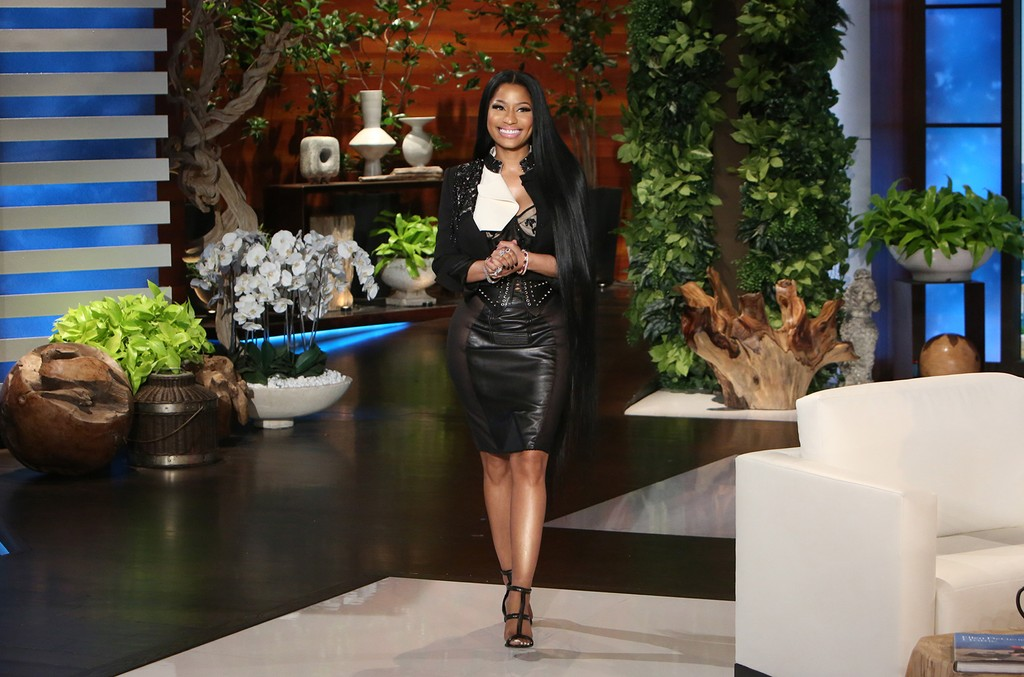 Nicki Minaj on The Ellen DeGeneres Show on May 23, 2017.