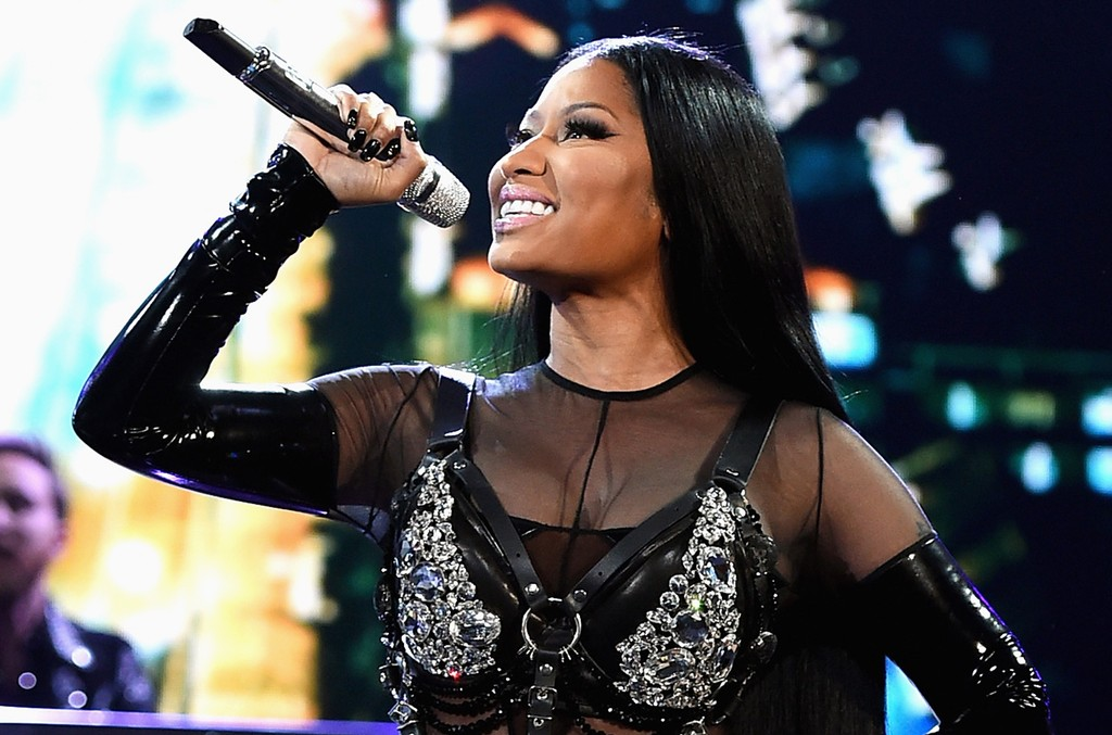 Nicki Minaj performs onstage during the 2017 Billboard Music Awards at T-Mobile Arena on May 21, 2017 in Las Vegas.