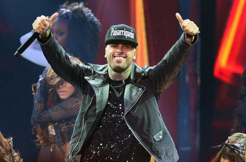 Nicky Jam performs at the 2015 Billboard Latin Music Awards