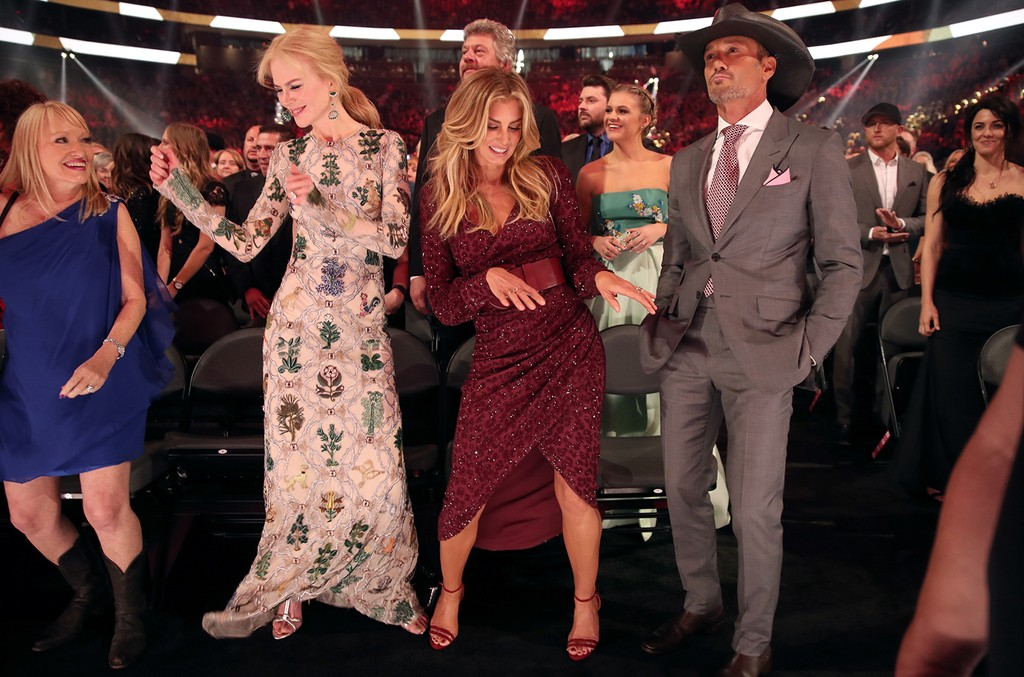 Nicole Kidman, Faith Hill, Kelsea Ballerini and Tim McGraw attend the 52nd Academy Of Country Music Awards at T-Mobile Arena on April 2, 2017 in Las Vegas.