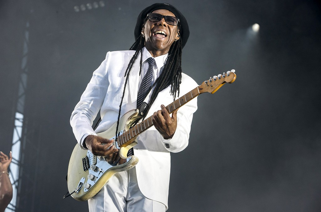 Nile Rodgers performs on day 1 of Flow Festival on Aug. 14, 2015 in Helsinki, Finland.