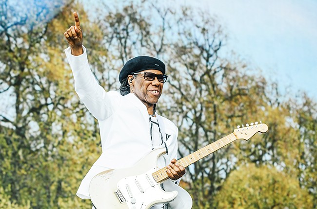 Nile Rodgers perfoms at Hyde Park on June 21, 2015 in London