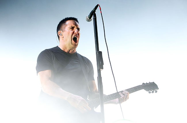 Trent Reznor of Nine Inch Nails performs on stage