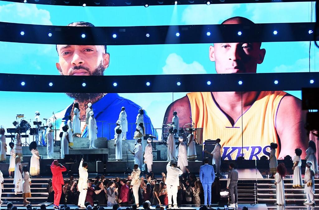 Nipsey Hussle and Kobe Bryant tribute