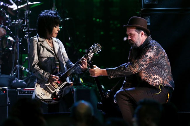 Joan Jett and Krist Novoselic for Nirvana's 2014 Rock and Roll Hall of Fame Induction