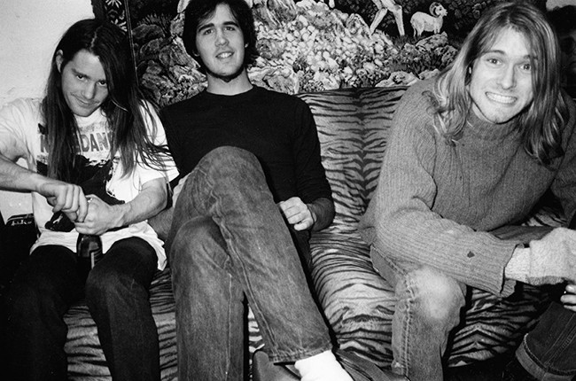 Chad Channing, Krist Novoselic and Kurt Cobain of Nirvana in the 1980s.