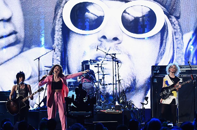 Nirvana , Rock Hall of Fame Induction 2014