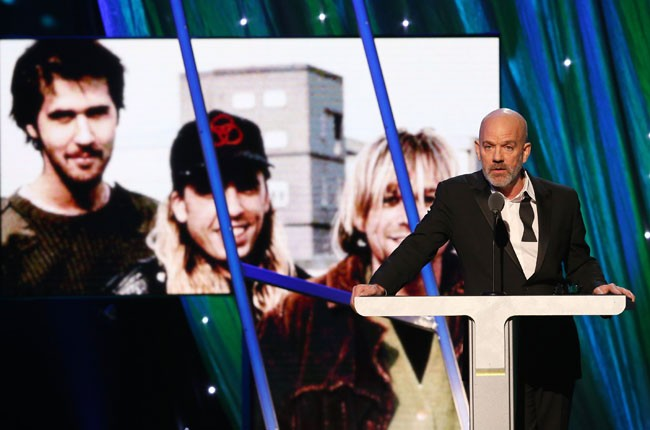Michael Stipe presents Nirvana at the 2014 Rock and Roll Hall of Fame Induction