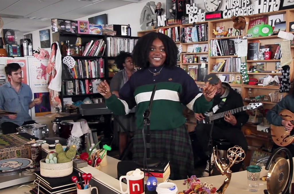 Noname performs during NPR's Tiny Desk series.