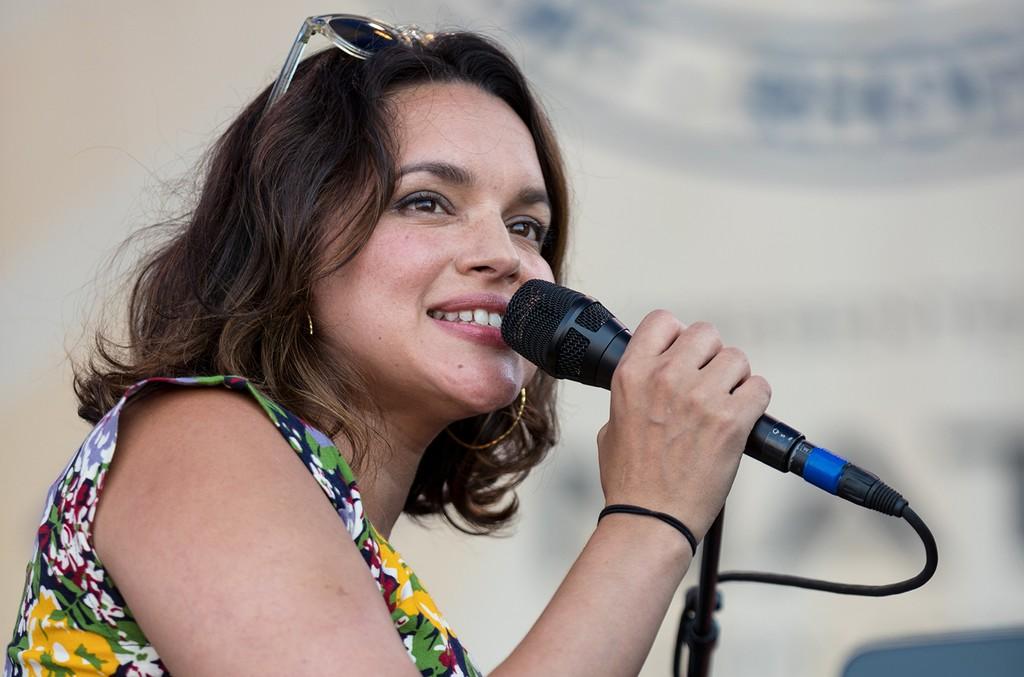 Norah Jones performs during the Newport Jazz Festival