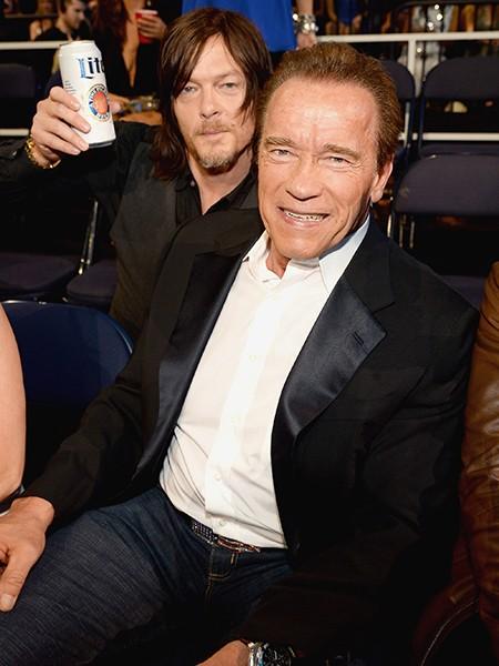 Norman Reedus and Arnold Schwarzenegger