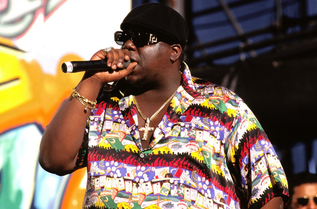 Notorious B.I.G. photographed in 1995.