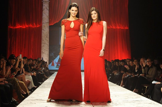 nyfw-fall-2013-red-dress-foundation-kendall-jenner-kylie-jenner-650-430