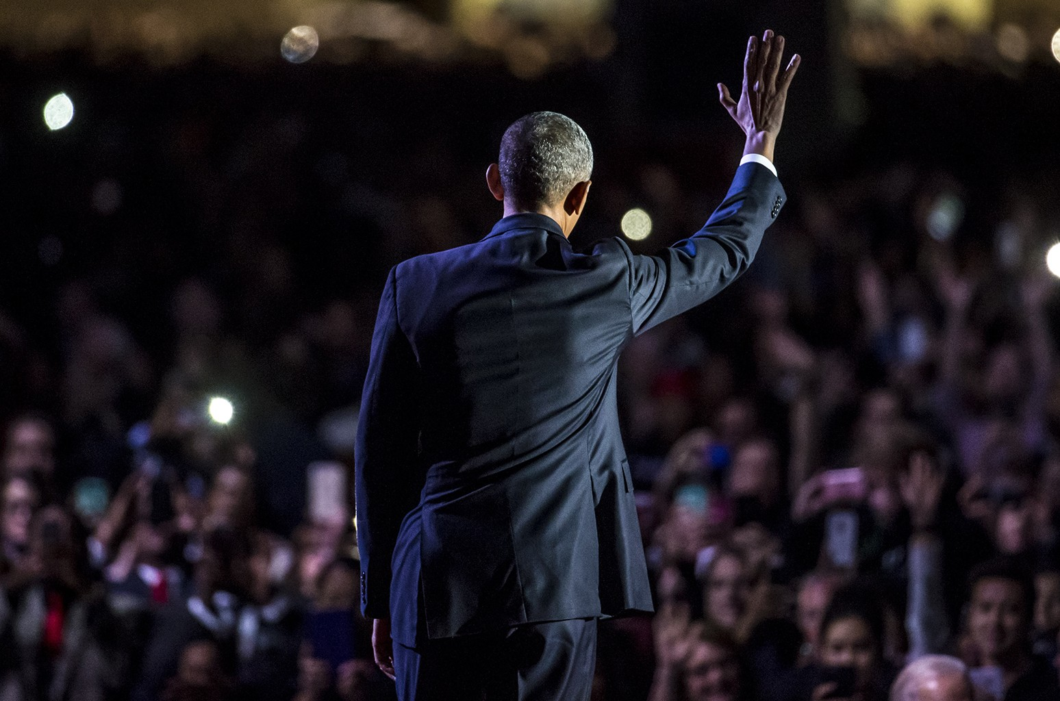 President Obama during his farewell address at McCormick Place in Chicago on Jan. 10, 2017.