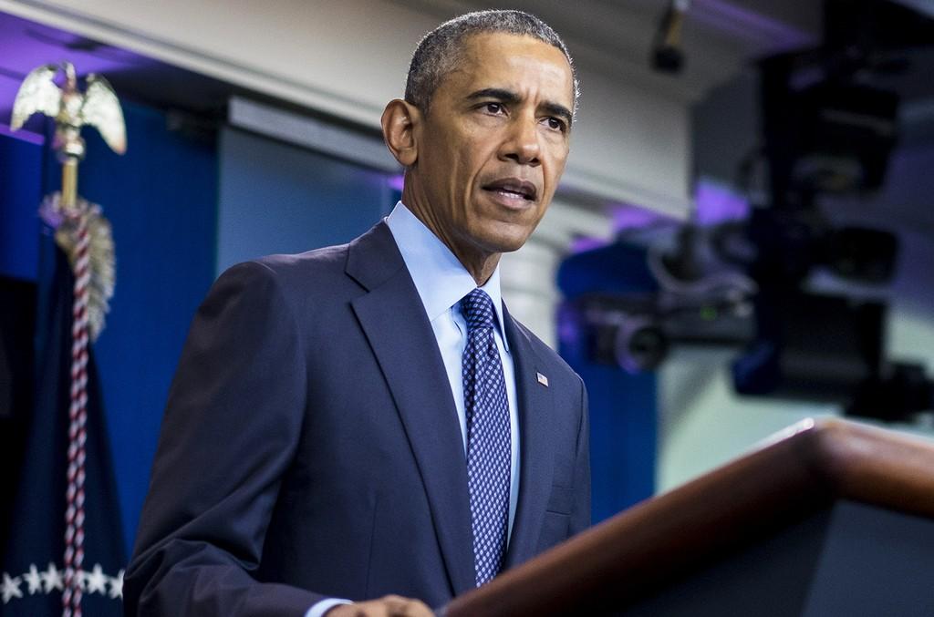 President Barack Obama speaks in 2016