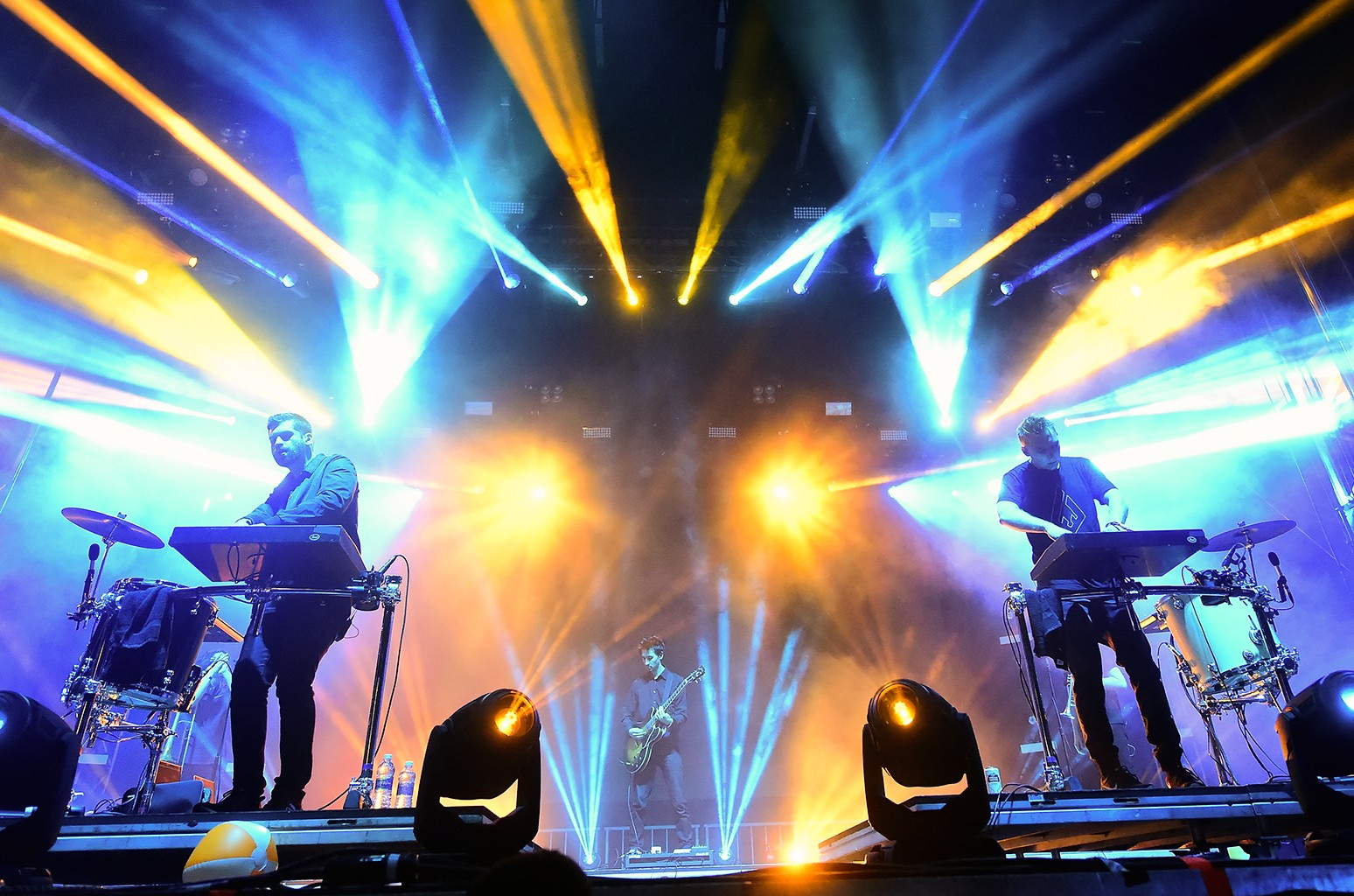Odesza perform on stage at the Okeechobee Music & Arts Festival, Day 4, on March 6, 2016 in Okeechobee, Fla.