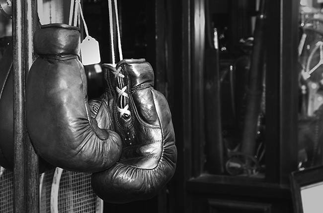 Gloves boxer vintage.