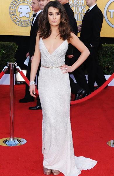 Lea Michele at the 2011 SAG Awards