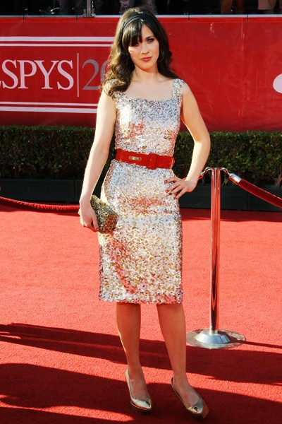 Zooey Deschanel at the 2012 ESPY Awards