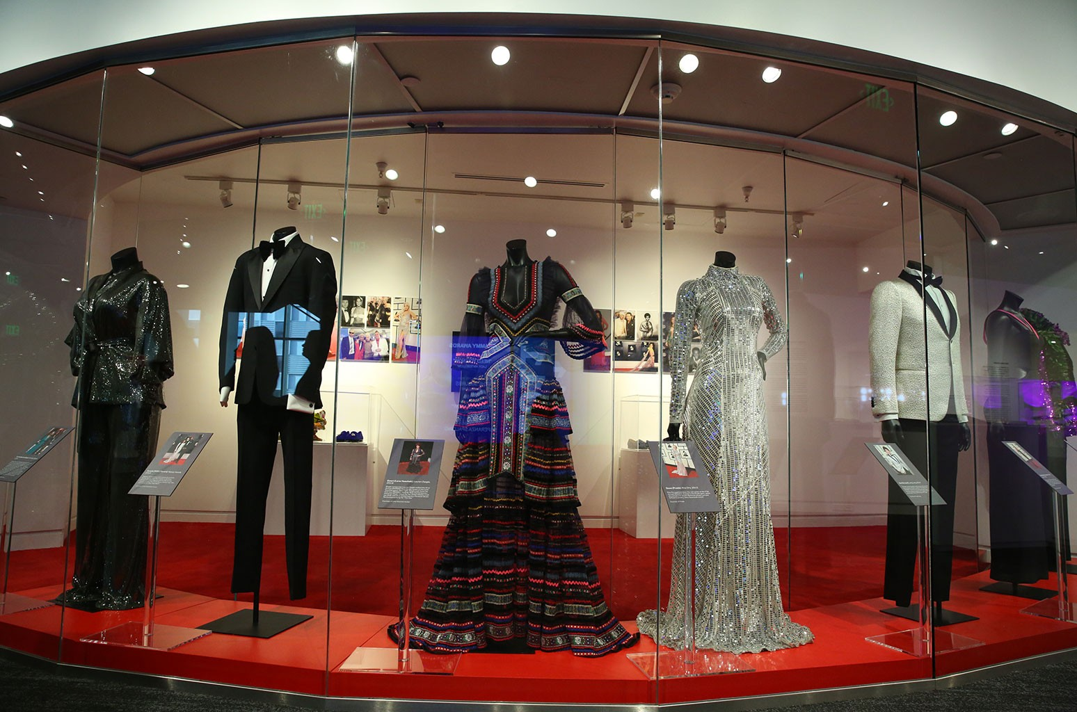 """On The Red Carpet"" exhibit at the Grammy Museum."