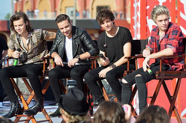 Harry Styles, Liam Payne, Louis Tomlinson and Niall Horan of One Direction appear on NBC's Today Show