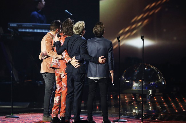 One Direction perform for the last time before their hiatus on The X Factor UK Series Finals on Dec. 13, 2015 in London.